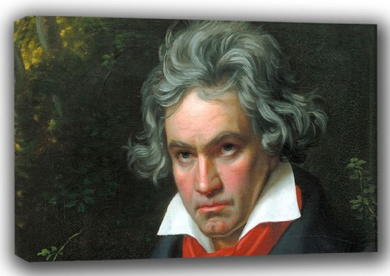 Stieler, Joseph Karl: Portrait of Ludwig van Beethoven (detail). Fine Art Canvas. Sizes: A4/A3/A2/A1 (001490)